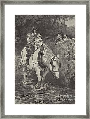 Hold Tight Framed Print by Frederick Morgan