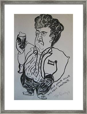 Hold Your Hour And Have Another. Framed Print by Roger Cummiskey