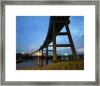 Holden Beach Bridge Framed Print