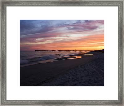 Holden Beach Pier Framed Print