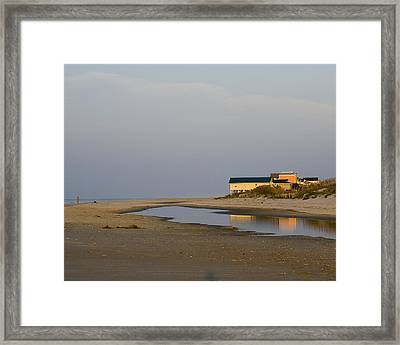 Framed Print featuring the photograph Holden Beach Reflections 1 by Alan Raasch