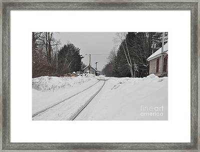 Framed Print featuring the photograph Holden Massachusetts Depot by John Black