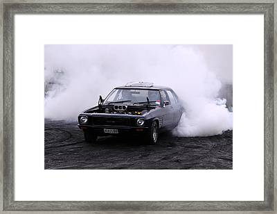 Holden Monaro Doing A Burnout Framed Print by Stephen Athea