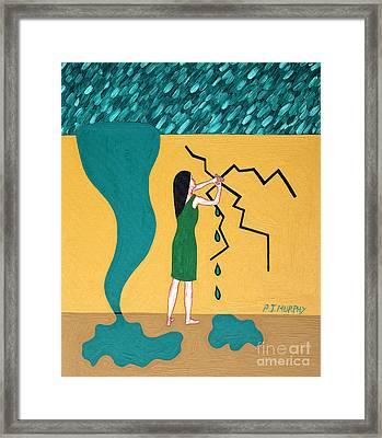 Holding Back The Flood Framed Print by Patrick J Murphy