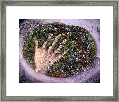 Holding Earth From The Series Our Book Of Common Faith Framed Print by Stephen Mead