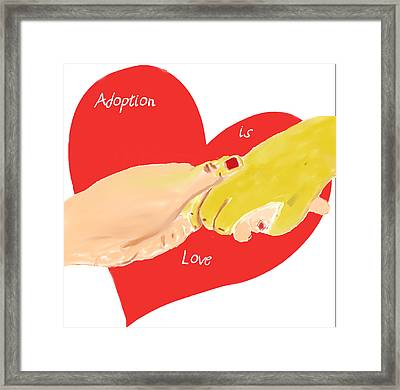 Framed Print featuring the digital art Holding Hands by Barbara Giordano