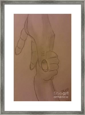 Holding Hands Framed Print