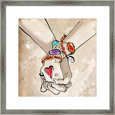 Holding Hands Framed Print by Jodi Pedri