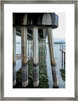 Framed Print featuring the photograph Holding It Up by Fran Riley