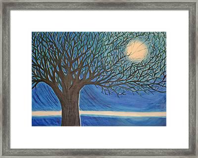Holding Moon Memories Framed Print