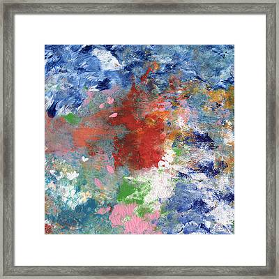 Holding On- Abstract Art By Linda Woods Framed Print