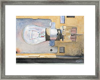Holding On To An Idea Framed Print by Ken Powers