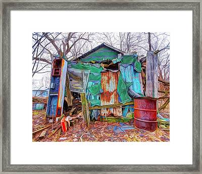 Holding On To Reality Framed Print