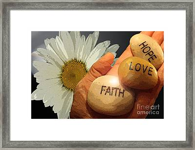 Holding The Future  Framed Print by Cathy  Beharriell