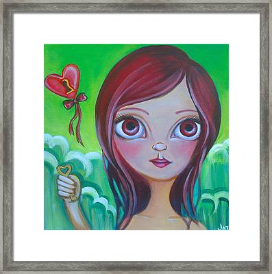 Holding The Key Framed Print by Jaz Higgins