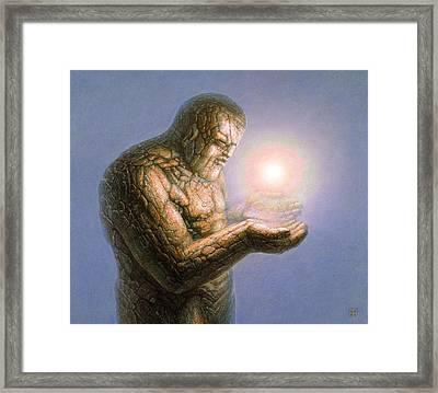 Holding The Light Framed Print by De Es Schwertberger