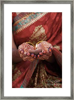 Holding The Light Framed Print by Tim Gainey
