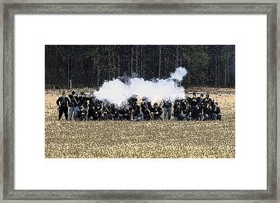 Holding The Line Framed Print by David Lee Thompson