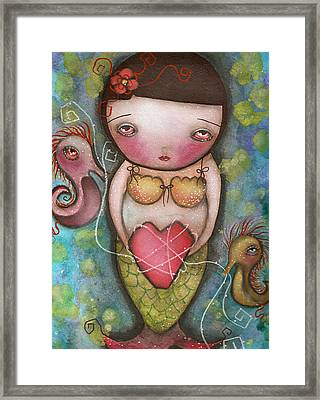 Holding Tight Framed Print by  Abril Andrade Griffith