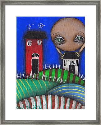 Holding You Framed Print by  Abril Andrade Griffith