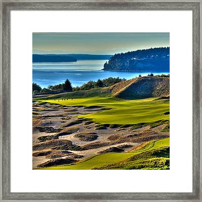 Hole #14 - Cape Fear - At Chambers Bay Framed Print