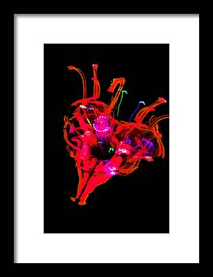 Burning Heart Framed Prints