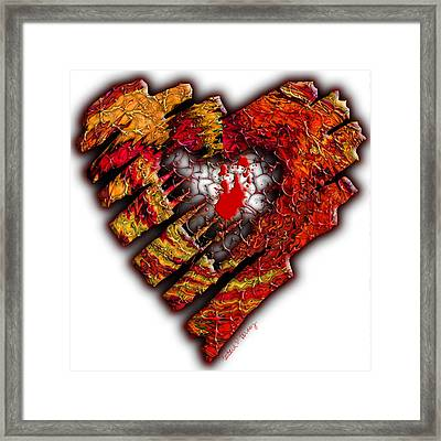 Hole In My Heart Framed Print by Barbara Berney