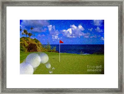Framed Print featuring the photograph Fantastic 18th Green by David Zanzinger