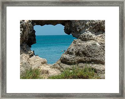 Hole In Rock Framed Print