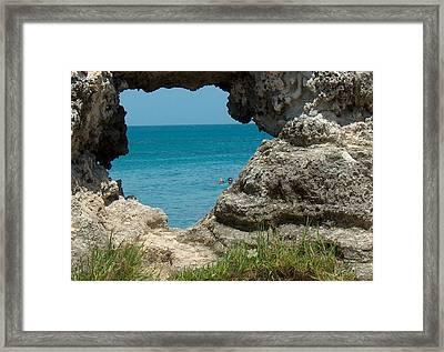 Hole In Rock Framed Print by Rita Tortorelli