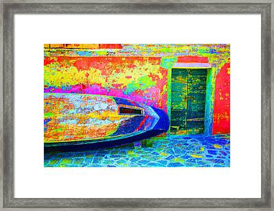 Hole In The Boat Framed Print
