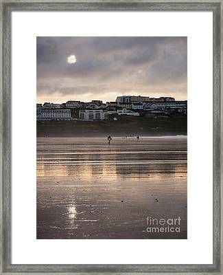 Hole In The Clouds Framed Print by Nicholas Burningham