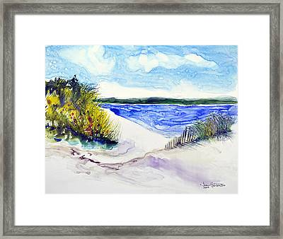 Hole In The Cove Framed Print