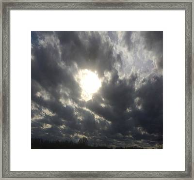 Hole In The Floor Of Heaven Framed Print by Raven Moon