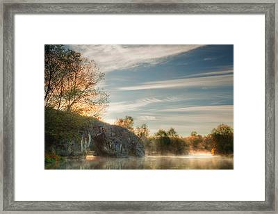 Hole In The Rock Framed Print by Evgeni Dinev