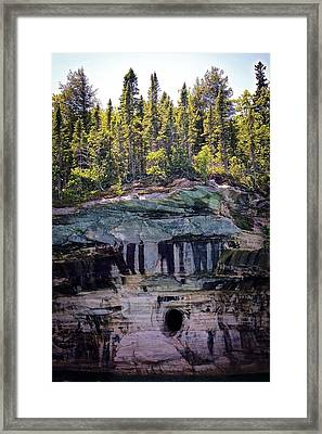 Hole In The Rocks Framed Print by Kendall Tabor
