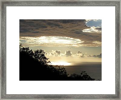 Hole In The Sky Framed Print by Gregory Young