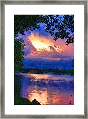 Hole In The Sky Sunset Framed Print by James BO  Insogna