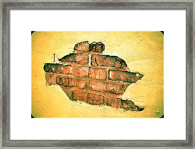 Hole In The Wall Framed Print by Keith Sanders