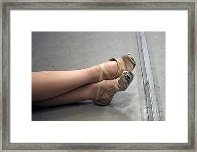Holes In Dance Shoes Framed Print by Steve Augustin