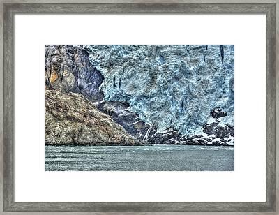 Holgate Glacier Hdr Framed Print