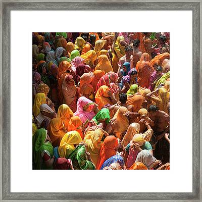 Holi India Framed Print by Tayseer AL-Hamad