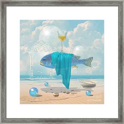 Framed Print featuring the digital art Holiday At The Seaside by Alexa Szlavics