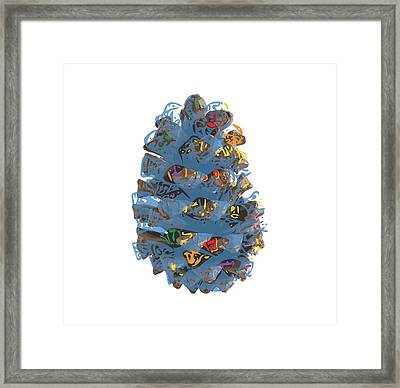 Holiday Blue Cone Framed Print by Stan  Magnan