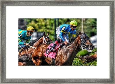 Holiday Bonus W Irad Ortiz,jr Framed Print