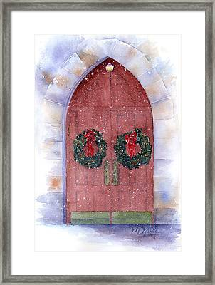 Holiday Chapel Framed Print