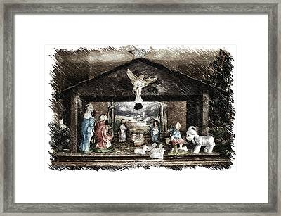 Holiday Christmas Manger Pa 01 Framed Print by Thomas Woolworth