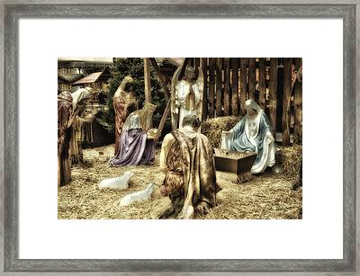 Holiday Christmas Manger Pa 02 Framed Print by Thomas Woolworth