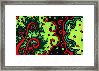 Holiday Colors Abstract Framed Print by Mandy Shupp
