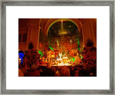 Holiday Decor In The Basilica Framed Print